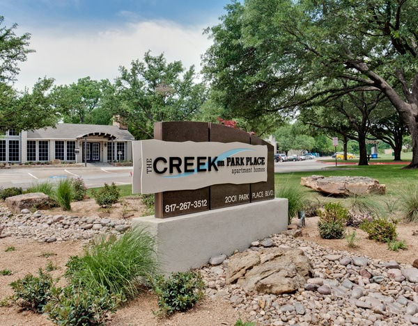 The Creek on Park Place apartments in Bedford Texas