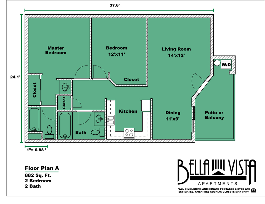 Apartments for rent in vista ca bella vista home 2d diagram malvernweather Image collections