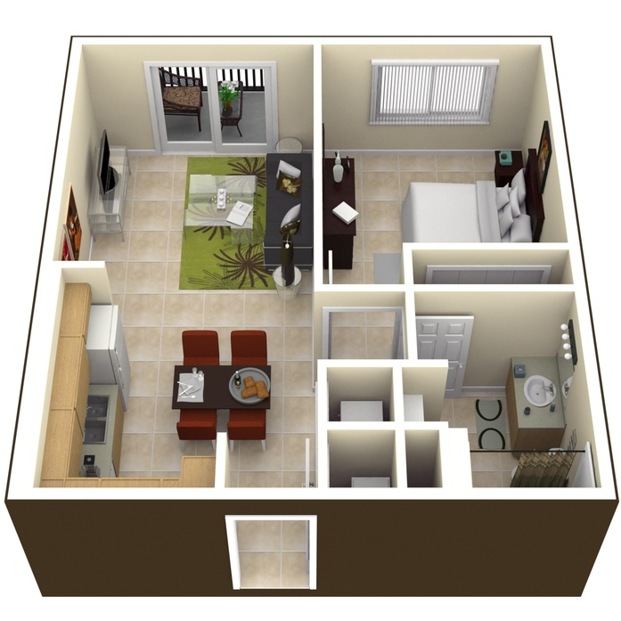 Miami, FL Pinnacle Place Floor Plans