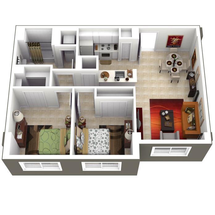 Miami, FL Pinnacle View Floor Plans