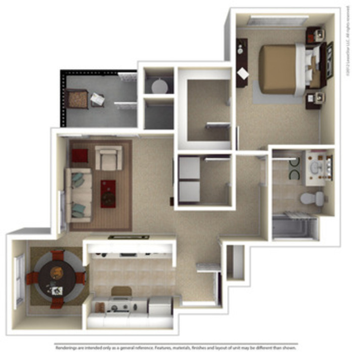 Hayward Apartments Floor Plans At Amador Village - 2 bedroom apartment layout design