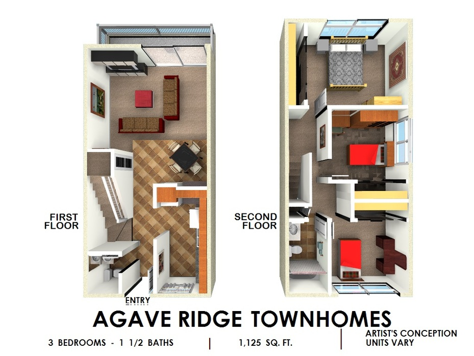 Agave Ridge - 2 & 3 Bedroom Townhomes San Diego