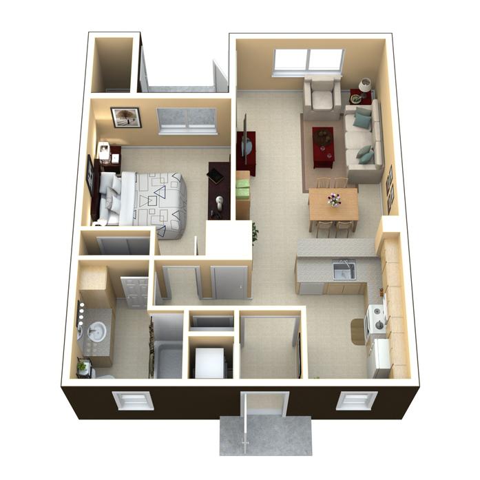 Pompano Beach Apartments: Pompano Beach, FL Pinnacle Village Apartments Floor Plans