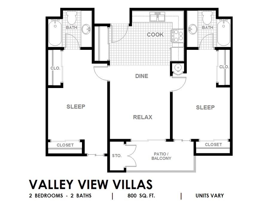 valley view villas floor plans