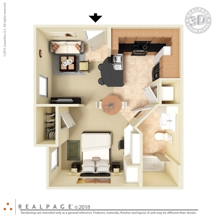 studio apartment floor plans 3d. 2D Diagram  3D Furnished Floor Plans 1 2 Bedroom Studio Apartments Houston