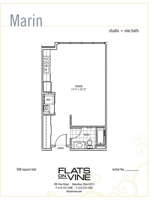 Studio Apartments, 1 & 2 Bedroom Floor Plans | Flats on Vine ...