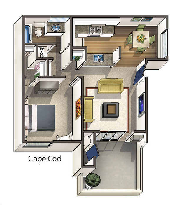 Floor Plans At Heritage Village Apartments Fremont, CA