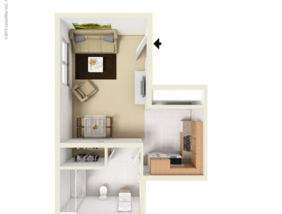 Studio, 1 and 2 Bedroom Apartments in