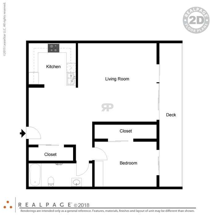 1 Bedroom Floor Plans for Los Gatos Apartments for Rent