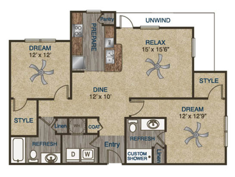 Atria Luxury Apartments 1 2 Or 3 Bedroom Apartments In Tulsa Ok
