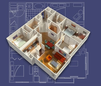 View one and two bedroom floorplans