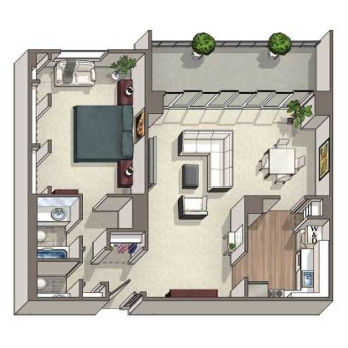 1 3 Bedroom Apartments In Alexandria Va Floor Plans At