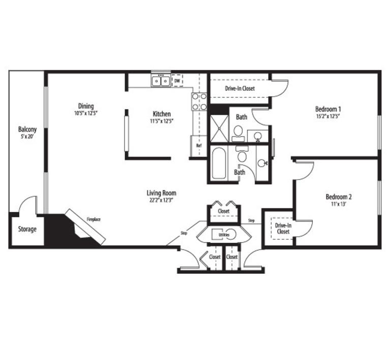 1 3 Bedroom Apartments Palatine Il Bourbon Square Floor Plans