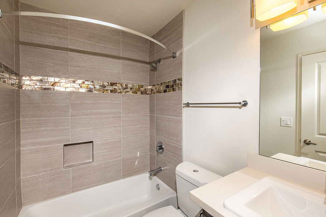 Tiled Bathroom Floor To Ceiling 1 and 2 bedroom apartments in san diego, ca