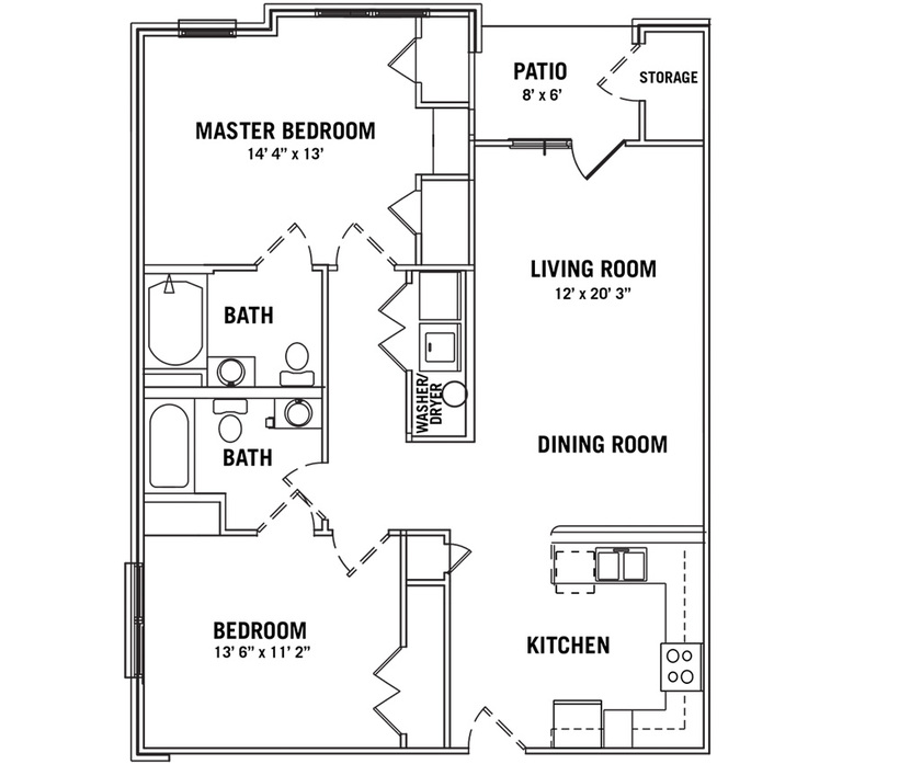 2 Bedroom Apartments In Greensboro Nc: One, Two And Three Bedroom Floor Plans In Greensboro