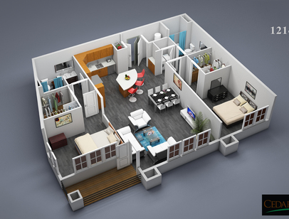 3D Furnished