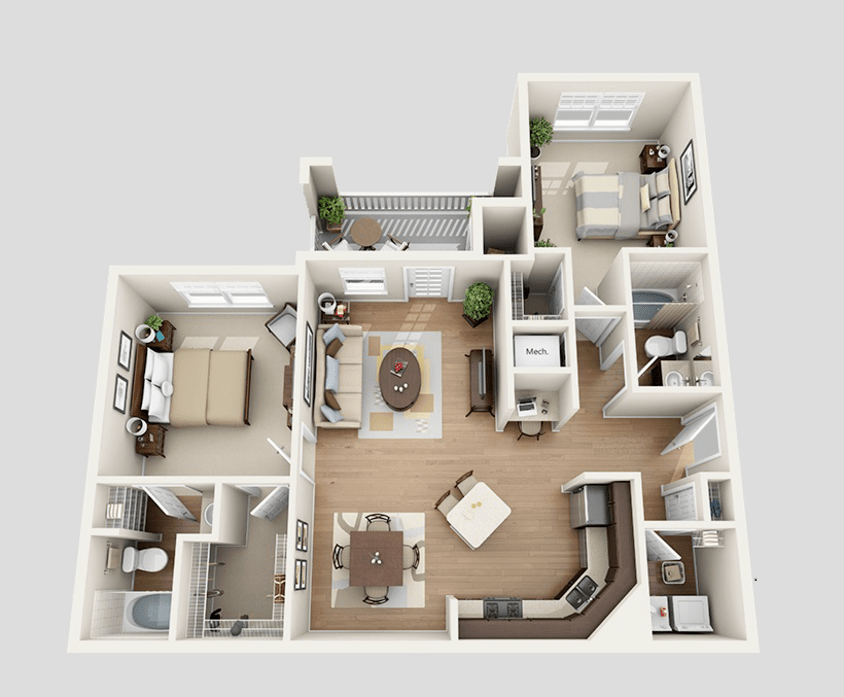 3d design kitchen one two amp three bedroom apartments at the ridge at 1083