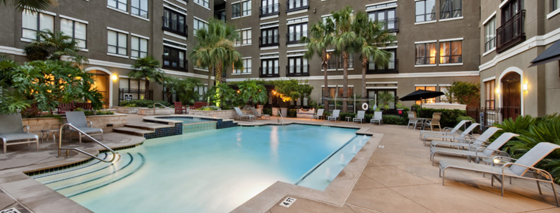 Sparkling Pool And Sundeck