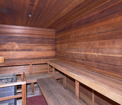 Image of sauna amenity available at Harbour Court
