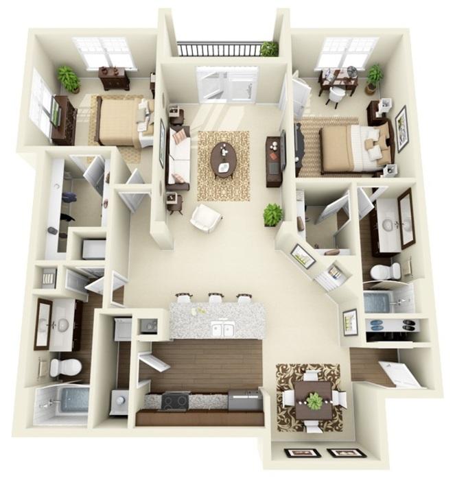 Studio-3 Bedroom Apartments Charlotte, NC