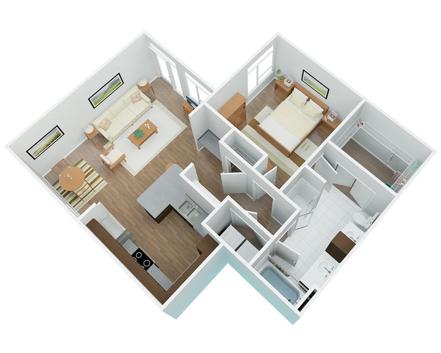 2D Diagram; 3D Furnished ...