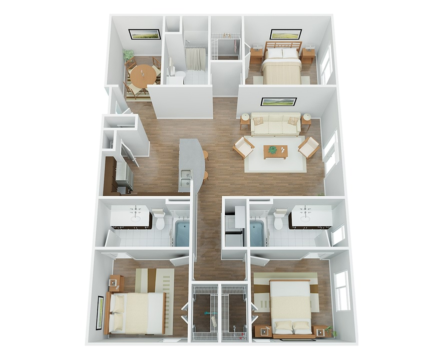 Apartments In Downtown San Antonio The River House Floor Plans