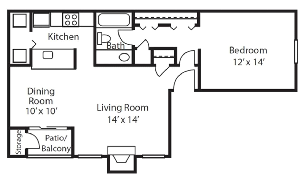floor plans at duraleigh woods 1 bedroom apartments in raleigh nc 2d diagram