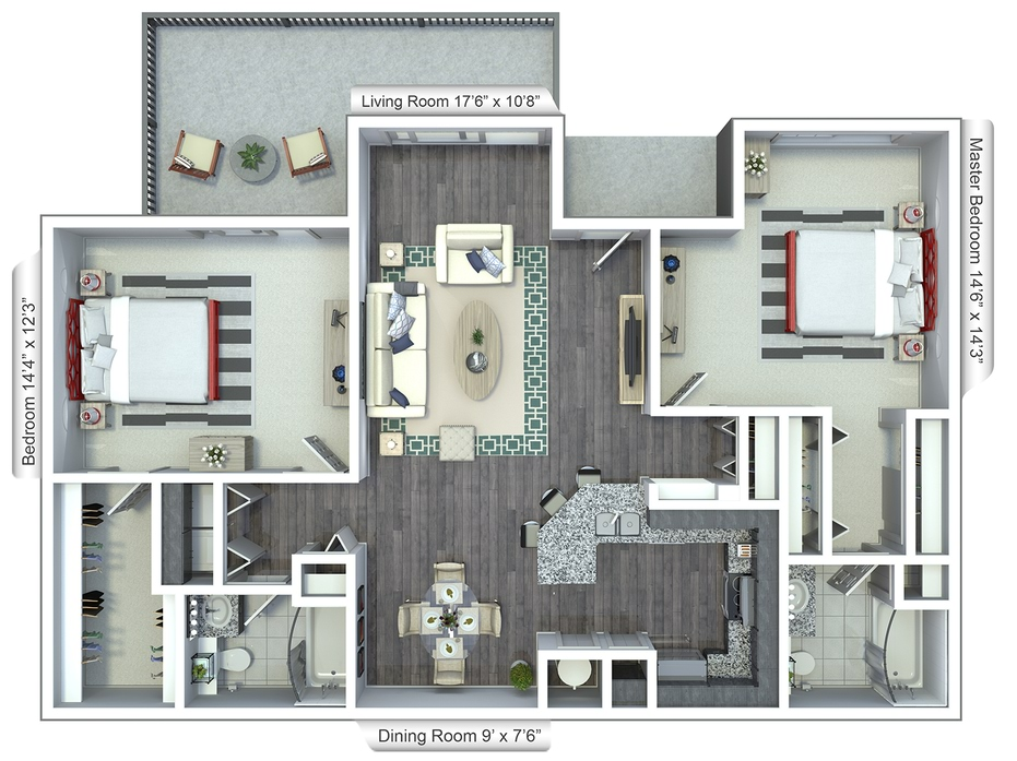 Two & Three Bedroom Floor Plans in Boca Raton, FL  Room House Plan D on 7 room house plan, 3 room house plan, 5 room house plan, living room house plan, 2 room house plan, 6 bedroom house plan, 10 room house plan, 8 room house plan, 12 room house plan, 14 room house plan,