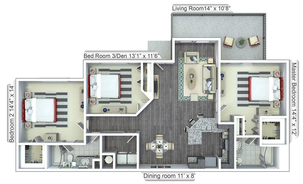 Two & Three Bedroom Floor Plans in Boca Raton, FL