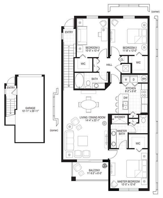 Apartments in pembroke pines sheridan village floor plans for 2 bedroom apartments for rent in pembroke pines