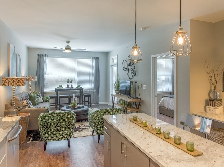 Kitchen-Asbury Flats Apartments
