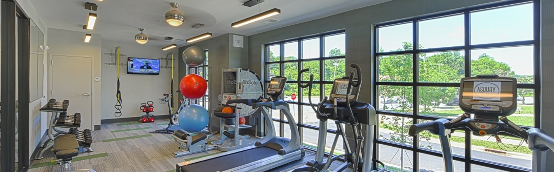 Fitness Center-Asbury Flats Apartments