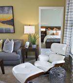 Living Room-Residence at Marina Bay Apartments