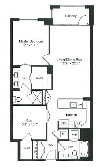 Apartment 1-0605 floorplan