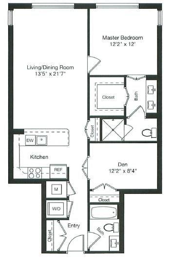 Apartment 1-0708 floorplan