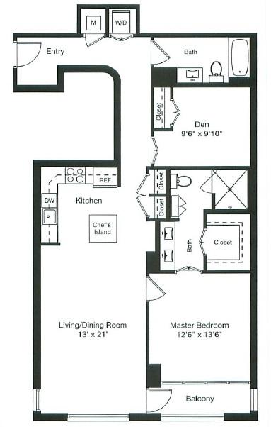 Apartment 1-0301 floorplan