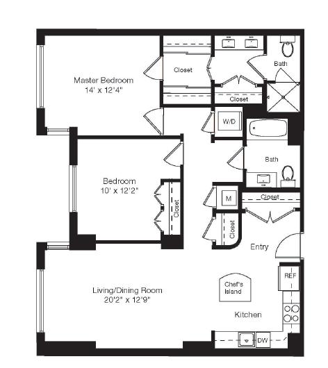 Apartment 1-0121 floorplan