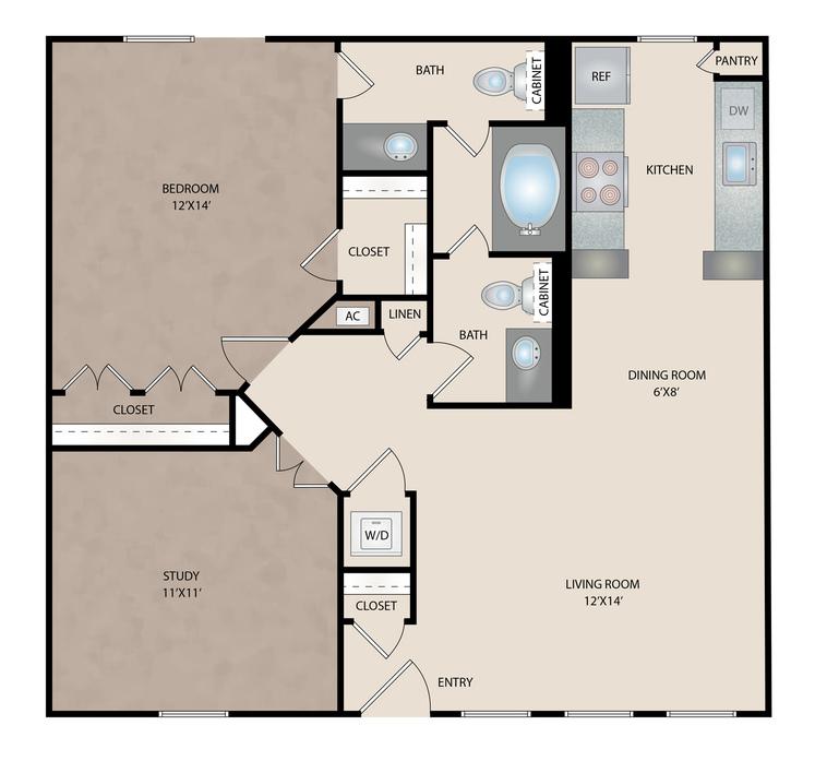 1-3 Bedroom Apartments North Houston