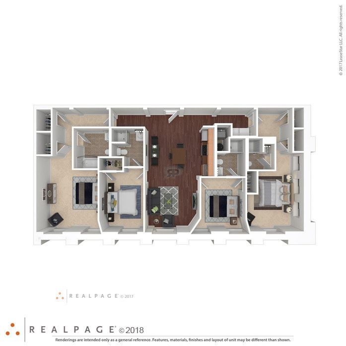 2D Diagram 3D Furnished Apartments for