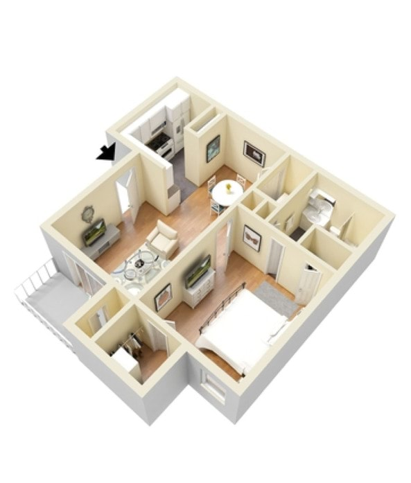 Bungalow 3d Floor Plan: Katy Texas Apartments Floor Plans At Westborough Crossing