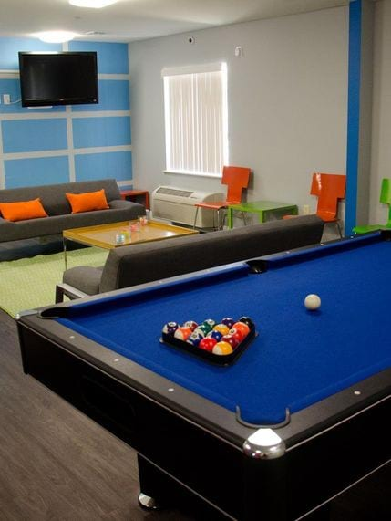 The Rubix Apartments Photo Gallery - Pool Table