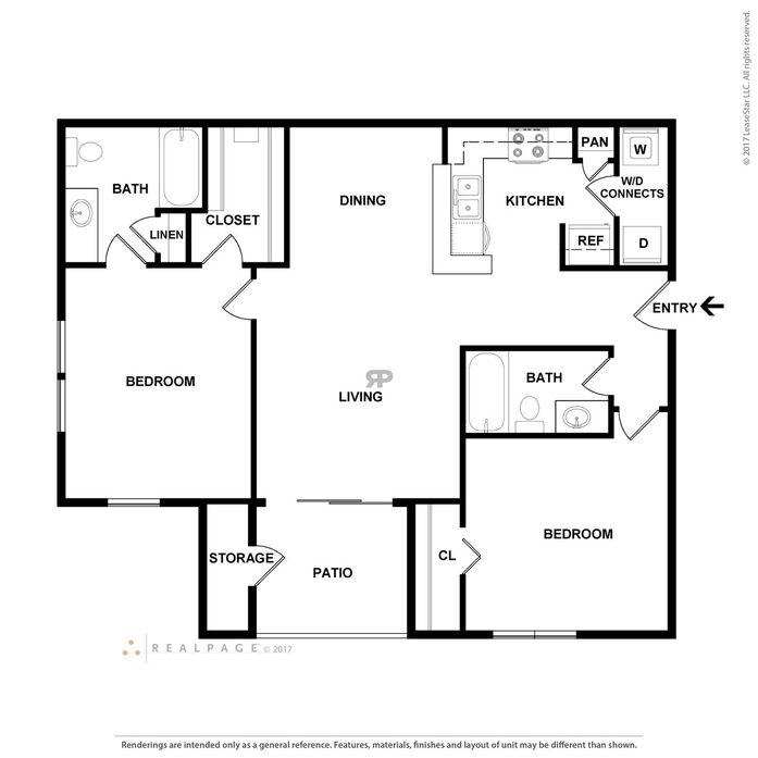 Houston, TX Heatherbrook Apartments Floor Plans