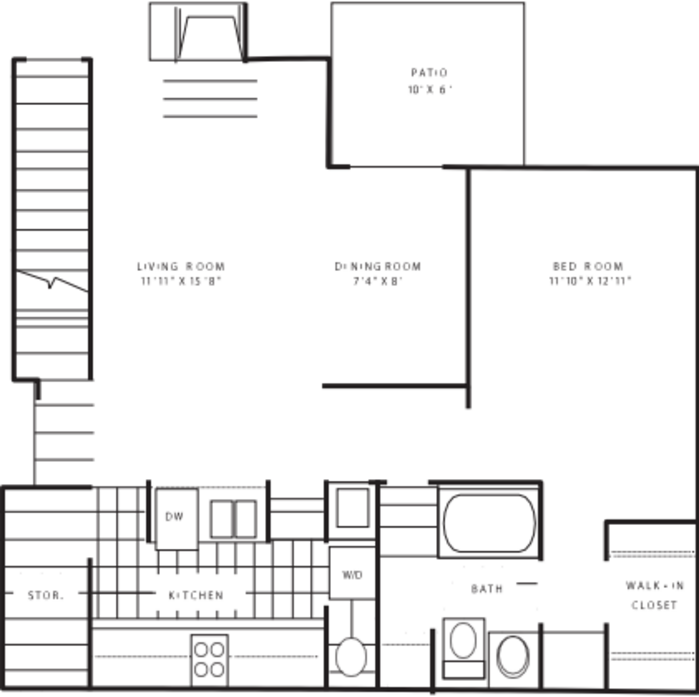 Moon Township, PA The Polo Club Apartments Floor Plans