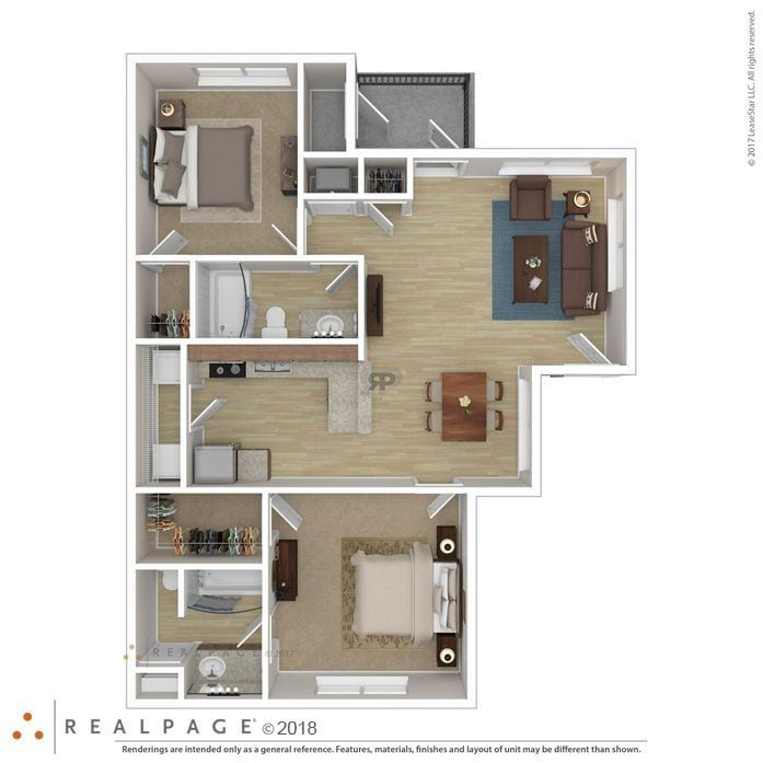 San Antonio, TX Las Villas De Leon Floor Plans