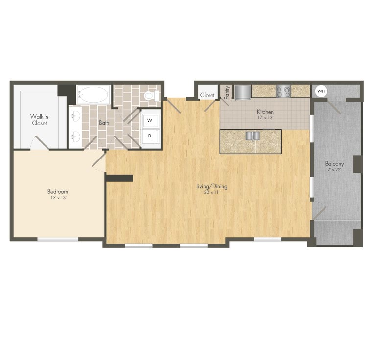 2D Diagram Apartments for Rent in