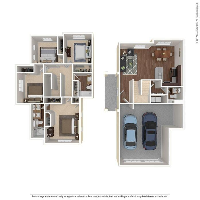 2D Diagram 3D Furnished Townhomes Williston