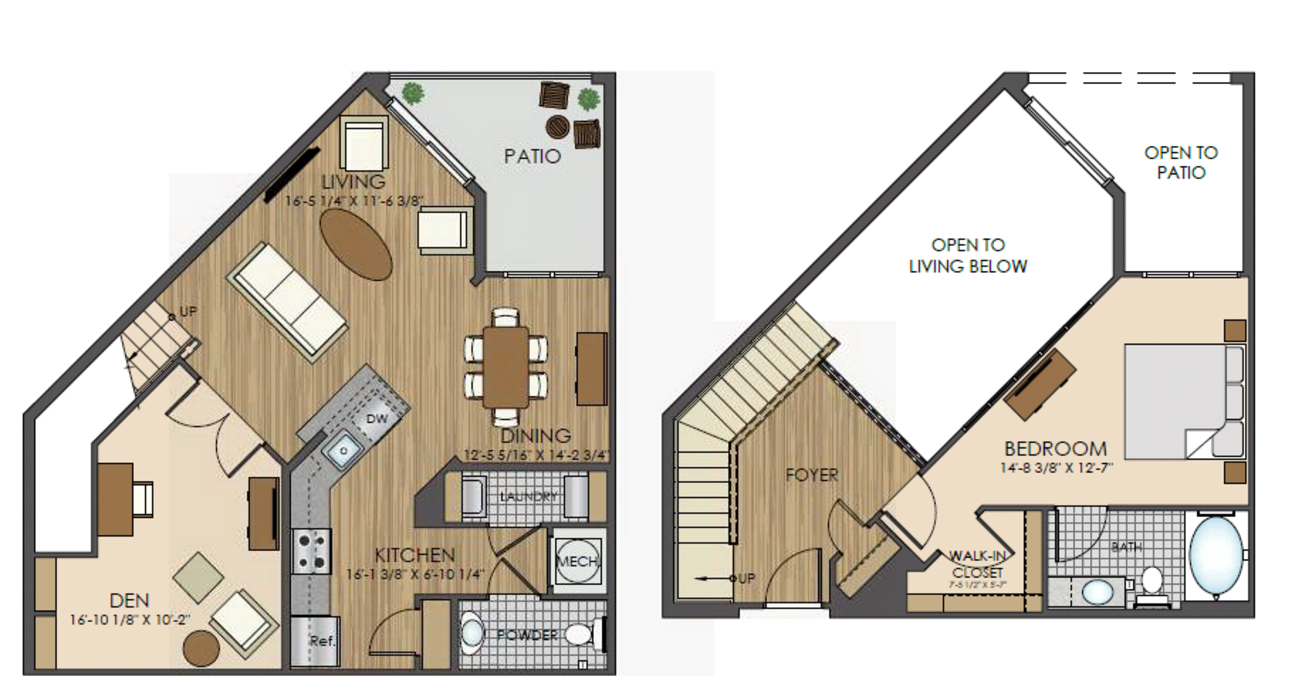 Luxury Apartments For Rent In Gaithersburg Md Hidden Creek Home Diagram 7 Below 6 Layout Roof Level 2d