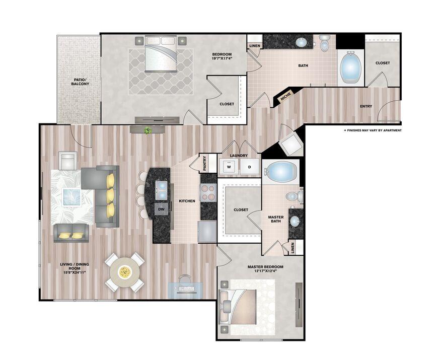 1 2 bedroom apartments houston upper kirby floor plans - 1 bedroom apartments houston all bills paid ...