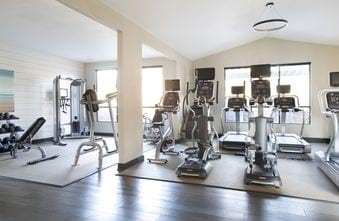 Fitness center with cardio machines and weight equipment