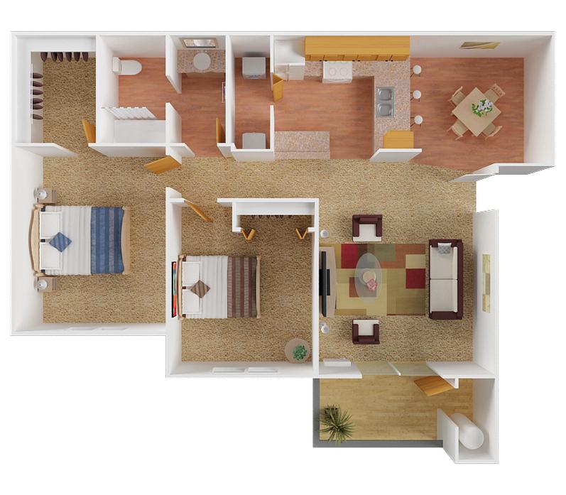 1-3 Bedroom Apartments Spokane Valley, WA   Eagle Rock Floor Plans